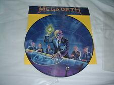 MEGADETH Rust In Peace '90 LP RARE ORIGINAL PicDisc UK !!! IMPORT !!! press