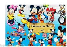 Plaque de porte en ( sur ) bois personnalisée Mickey N° 50 avec prénom ou texte