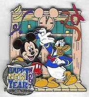 Disney WDW Happy New Year Mickey Mouse and Donald Duck Pin