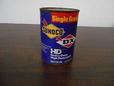 SUNOCO DX 1 QT MOTOR OIL . DARK BLUE CARDBOARD CAN
