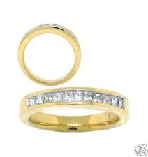 .50ct PRINCESS CUT DIAMOND WEDDING BAND 14k YELLOW GOLD