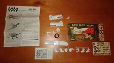 """vtg 1960 Hawk, Gee Bee Sportster Racer Model 1/4"""" scale in Box boys & girls"""
