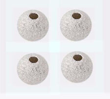 10pcs 8mm 925 Round Sterling Silver Stardust Bead Spacer star dust bright  s98