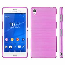 Handy Hülle für Sony Xperia Brushed Cover Schutz Hülle Slim Case Silikon Tasche