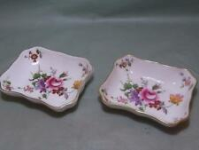 2 Royal Crown Derby Derby Posies Oblong Trinket Dishes (Lot A)