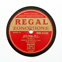 """JIMMIE RODGERS """"Blue Yodel No. 2"""" REGAL ZONOPHONE MR-3122 [78 RPM]"""