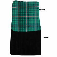 Mirage Pet Products Luxurious Plush Big Baby Blanket Green Plaid