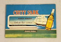 1963 Cutty Sark Chicago Cubs and White Sox Pocket Schedule RARE B