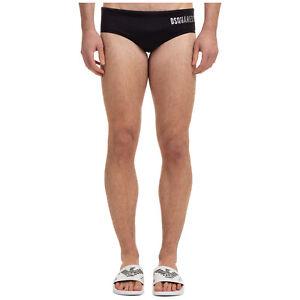 Dsquared2 swimming brief men icon D7B453720013 Black swimwear bathing suit