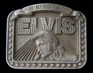 IN MEMORY OF ELVIS BELT BUCKLE VINTAGE 1980'S LIMITED EDITION 496/10000