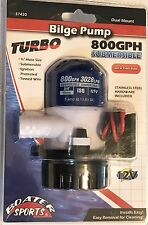 "BOAT BILGE PUMP, 800 GPH, 3/4"" HOSE REQUIRED, BOATER SPORTS 57420"