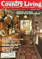1981 Country Living Magazine: Kitchens Packed With Great Ideas/Ceiling Fans