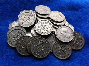 King George VI 1952 Sixpence Rare Key Date
