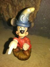 Mickey Sorcerer Anri Limited Ed.Wooden Figurine, Hand Painted, Carved, New,w/Coa