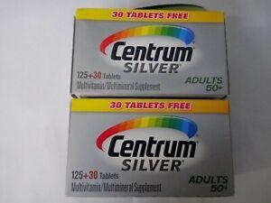 Centrum Silver Adults 50+ 155 Tablets [Lot Of 2 ] Exp 03/21 NIB