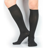 LOT 3,6 or 12 Pairs Mens Knee High Socks Soft Cotton & Nylon 4-10 / 7-12 YU2227