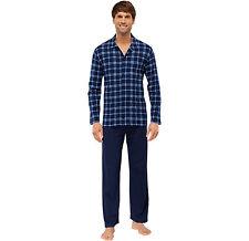 SCHIESSER Herren Schlafanzug lang mit Knopfleiste Gr. 48-64 S-6XL Pyjama NEU