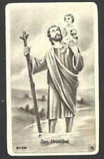 holy card antique de San Cristobal image pieuse santino estampa