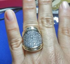Two Tone Sterling Silver & 9k Gold Ring size K SAME DAY SHIPPING