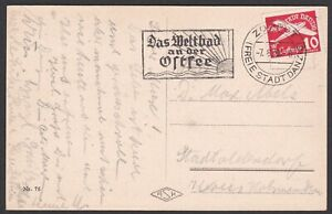 Germany. Danzig. 1939 stamped Post Card from Zoppot.