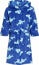 Playshoes Fleece-bademantel Hai blau 122 X 128 Cm