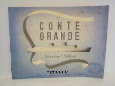 BROCHURE PUBLICITAIRE DU PAQUEBOT CONTE GRANDE ITALIA VERS 1930 AGENCE DE VOYAGE