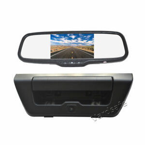 Tailgate Reverse Camera & Rear view Mirror Monitor for Ford F150 (2015-2017)