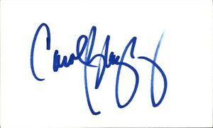 Carol Blazejowski Signed Index Card 3x5 Autographed Liberty HOF 66953