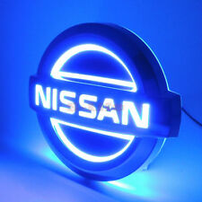 Auto 5D LED Car Tail Logo Light Badge Emblem For Nissan TIDA X-TRAIL Blue