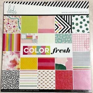 "HEIDI SWAPP Color Fresh 12""x12"" Paper Pad 24 Designs 36 Sheets Geometric Trendy"
