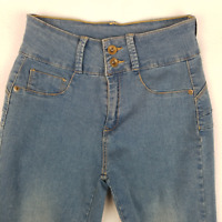 VTG My Fit Womens Jeans Two Button Skinny Stretch Light Wash Blue Size 2-12