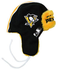 Pittsburgh Penguins New Era Helmet Head Knit Trapper, One Size