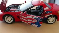 MAISTO 2002 CORVETTE 1/24 SCALE MARVEL CAPTAIN AMERICA RED DIE CAST PREOWNED