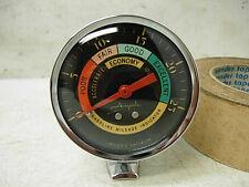 NOS 1960s AIRGUIDE VACUUM GAUGE GAS MILEAGE INDICATOR W/ PEDESTAL MOUNT CUP RARE
