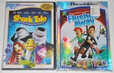 Kid DVD Lot - Shark Tale (New) Flushed Away (New) DreamWorks Animation