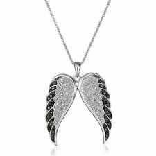 Fashion Mother's Day Angel's Wings Rhinestone Crystal Pendant Necklace Jewelry
