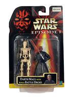 1999 Star Wars Episode I The Phantom Menace DARTH MAUL w/ Bonus Battle Droid NEW
