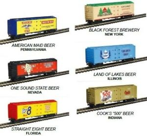 HO - MSRP $120 - Six BEER 41' Reefer Cars - Limited Edition - MDP-98706