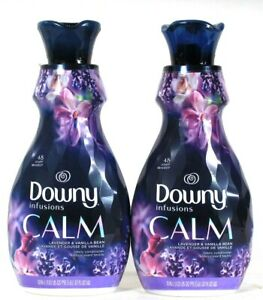 2 Downy 32 Oz Infusions Calm Lavender & Vanilla Bean 48 Lds Fabric Softener