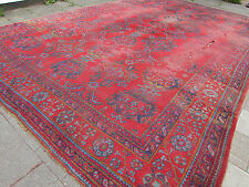 Antique Hand Made Turkish Ushak Oushak Red Wool Large Huge Carpet Rug 620x403cm