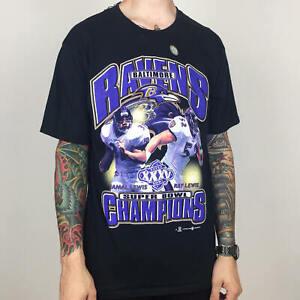 Vintage Baltimore Ravens NFL T Shirt Football Champs Funny Vintage Gift For Men