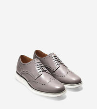 New Cole Haan LUNARGRAND WINGTIP Oxford Shoes size 11.5  Cloud Burst-Optic White