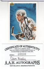 CAM NEELY 1991-92 UPPER DECK #78 IN PERSON AUTOGRAPH WITH A.A.H CERTIFICATE MINT