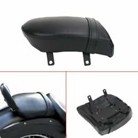 Motorcycle Rear Passenger Seat Black Leather For Victory Kingpin High-Ball Vegas