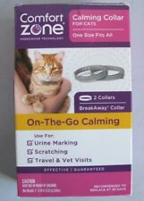 Comfort Zone Cat Calming Pheromone Collar Anxiety Stress Relief Aid Grey 2 Pack
