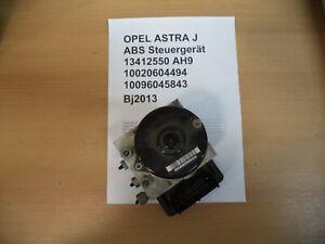 Opel Astra J 1,7 CDTi 96kW ABS Block Hydraulikblock 13412550 Bj2013