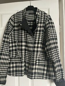 Ladies Next Black And White Jacket Size 18 - Worn Once