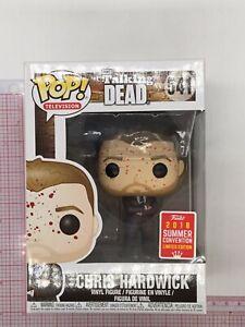 Funko POP! Chris Hardwick #541 Bloody 2018 Summer Con Exc NOT MINT BOX F05