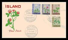 Iceland 1964 FDC, Flowers III. Lot # 1.