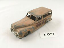 DINKY #27F / 344 PLYMOUTH WOODY ESTATE STATION WAGON ORIGINAL DIECAST CAR BROWN